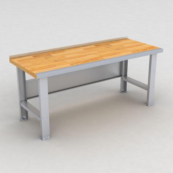 Arbetsbänk med bokskiva - H: 87 x L: 200 x D: 78 cm