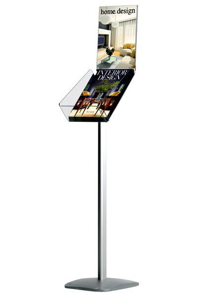 Image of   Brochurestander med info | H: 130 cm Vertikal