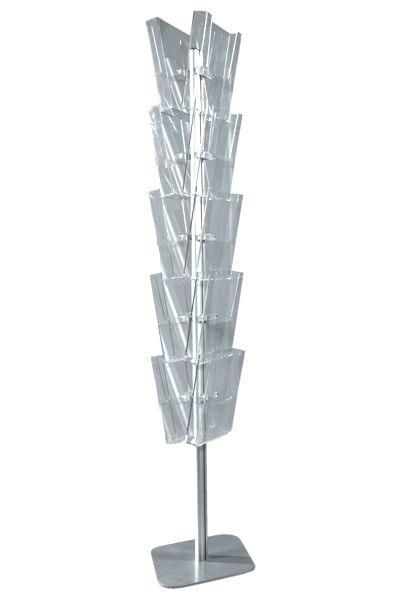 Image of   Brochurestander til gulv med 10 holdere