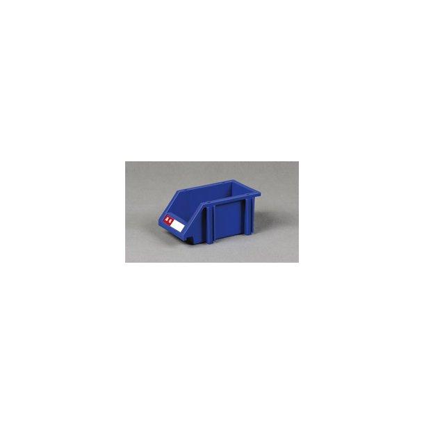 Plastkasse med labelholder L: 20 x B: 11.5 x H: 9 cm
