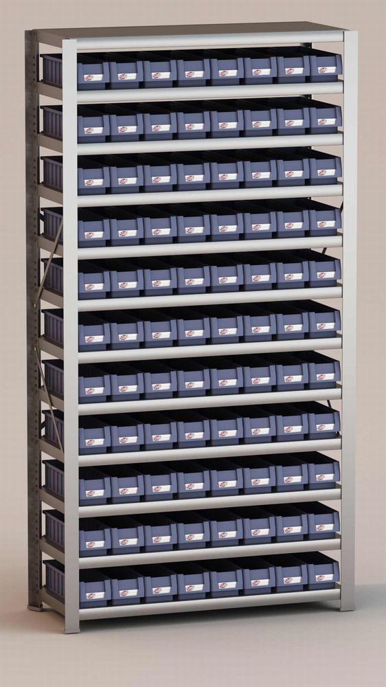 Image of   Arkivreol med 88 plastkasser D: 40 cm