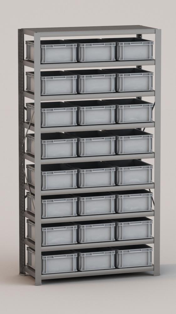 Image of   Arkivreol med 24 plastkasser D: 40 cm