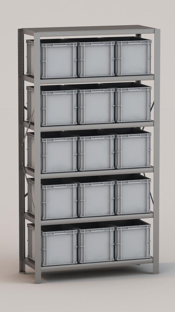 Image of   Arkivreol med 15 plastkasser D: 40 cm