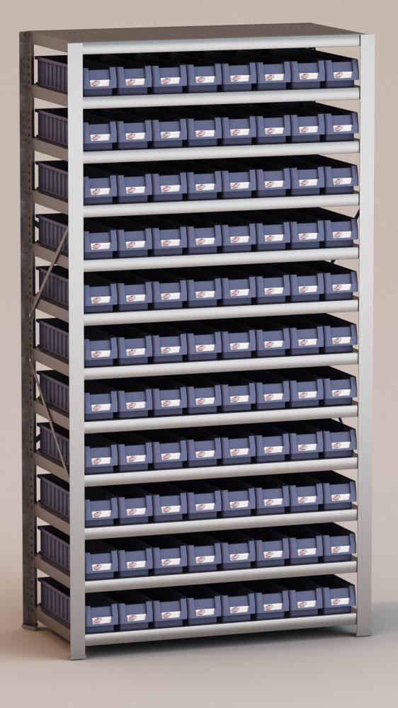 Image of   Arkivreol med 88 plastkasser D: 50 cm