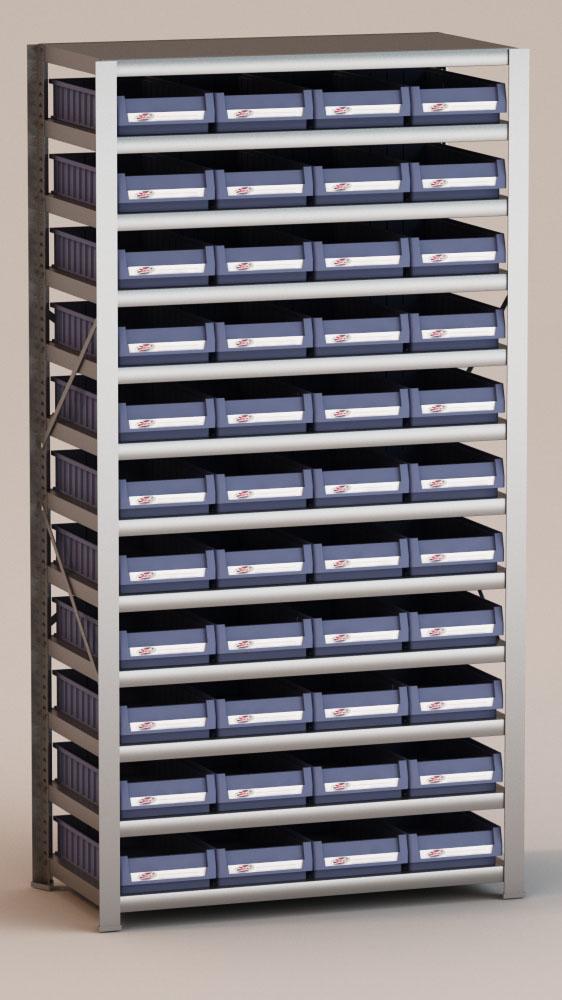 Image of   Arkivreol med 44 plastkasser D: 50 cm