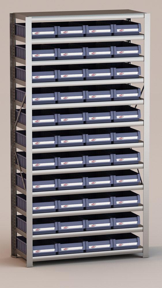 Image of   Arkivreol med 44 plastkasser D: 40 cm