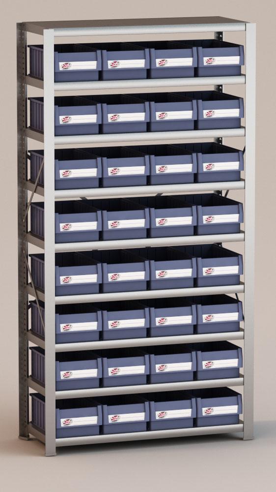 Image of   Arkivreol med 32 plastkasser D: 40 cm
